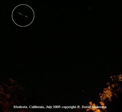 НЛО, Июль, 2005 год – Модесто, штат Калифорния.