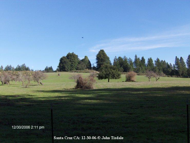 НЛО, 29 декабря, 2006 год – Санта-Крус, штат Калифорния.