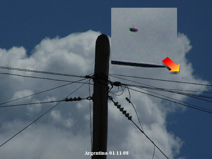 НЛО, 11 января, 2008 год – Аргентина.