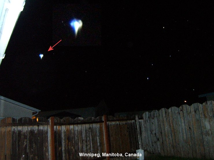 НЛО, Конец мая, 2008 год – Виннипег, Манитоба, Канада.