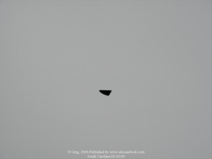 НЛО, 2009 год – штат Южная Каролина.