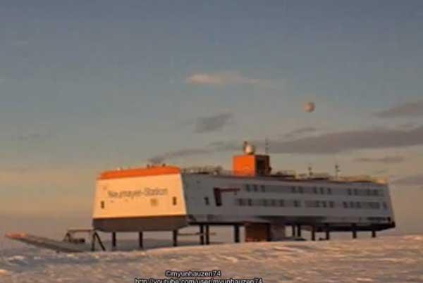 НЛО над немецкой станцией в Антарктиде 10 августа 2012