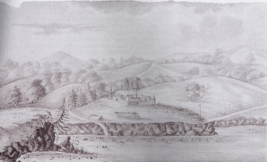 Fort Ross painting (unknown artist 1817)