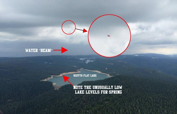 Фото НЛО 2015 года, высасывающего воду из озера
