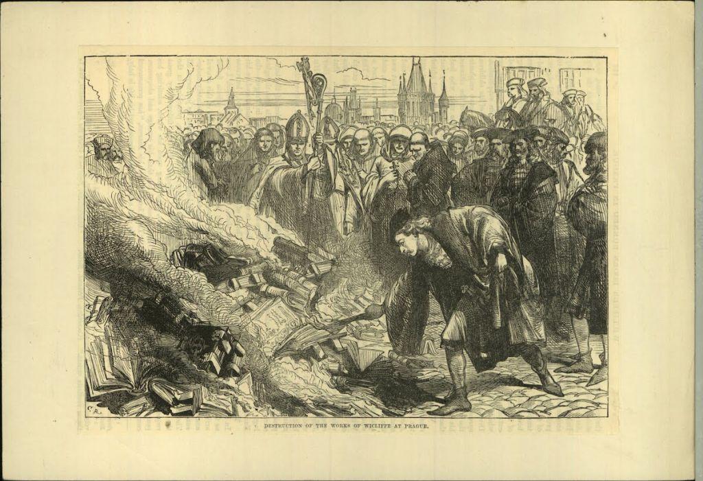 Сожжение книг инквизицией.