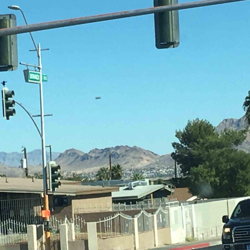 Прямоугольное НЛО в Лас-Вегасе