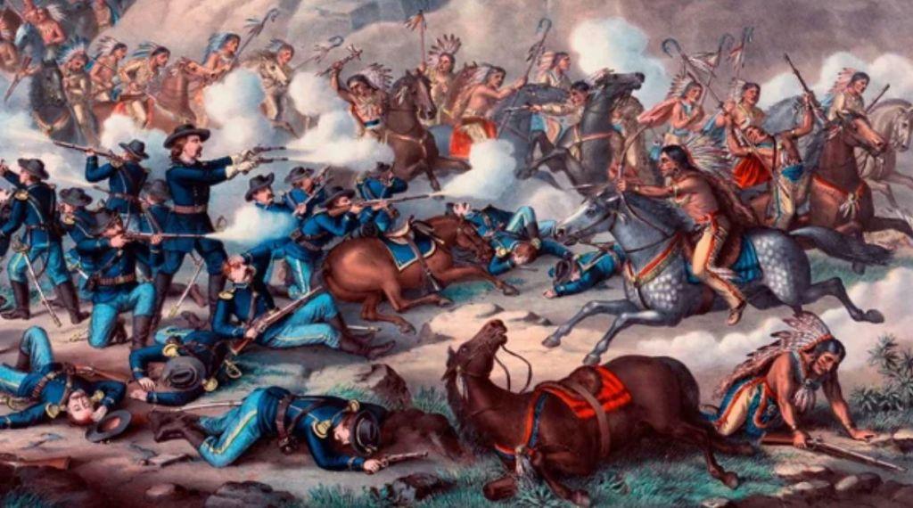 Крупнейшая битва при Литтл-Биг Хорн.