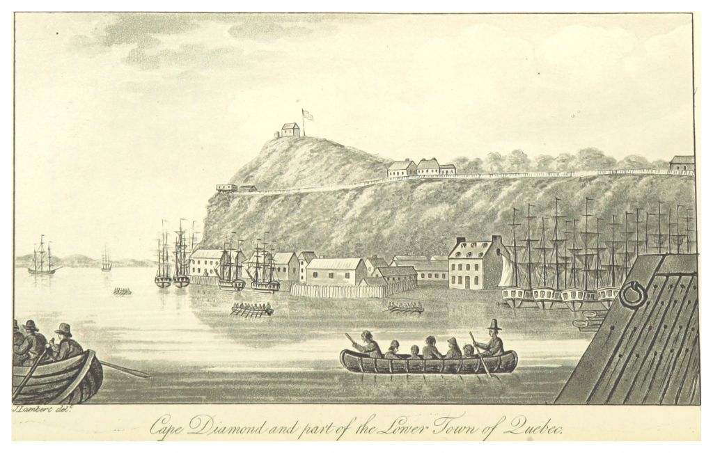 LAMBERT 1816 CAPE DIAMOND AND PART OF THE LOWER TOWN OF QUEBEC.