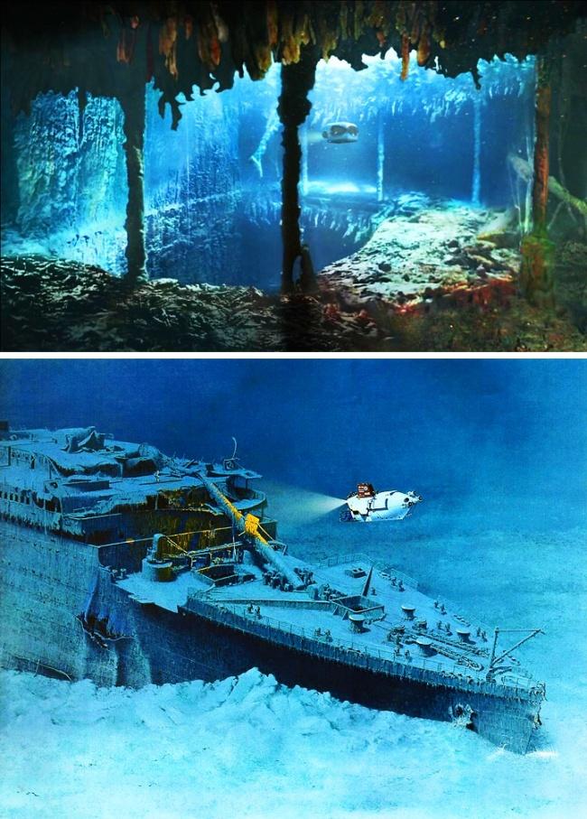 кино картинка как выглядит титаник под водой звёзд фиолетовому