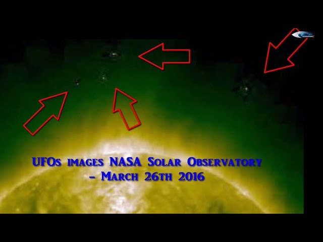 НЛО у Солнца 26 марта 2016