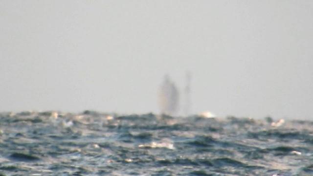 Видео миража на море