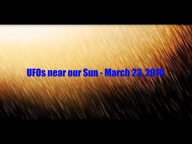 НЛО у Солнца 23 марта 2016