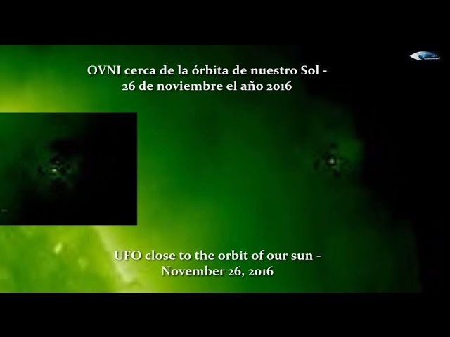 НЛО у Солнца 26 ноября 2016