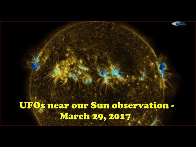 НЛО у Солнца 29 марта 2017