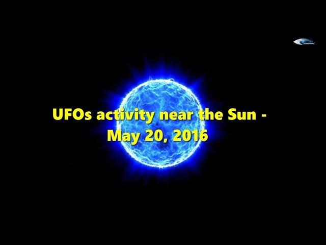 НЛО у Солнца 20 мая 2016