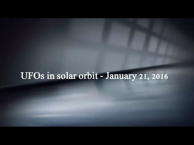 НЛО рядом с Солнцем 21 января 2016