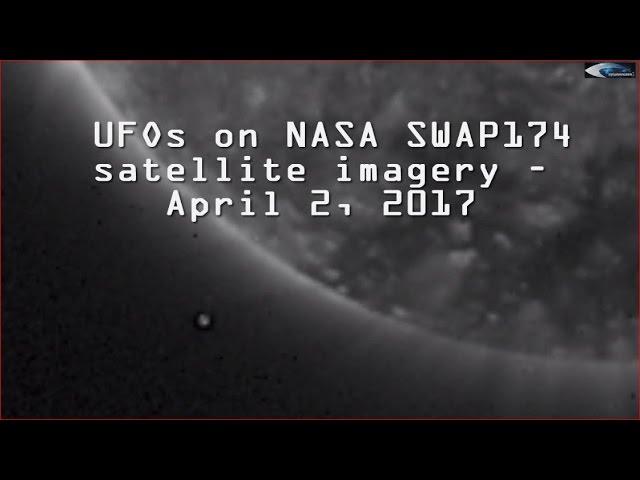 НЛО у Солнца 2 апреля 2017