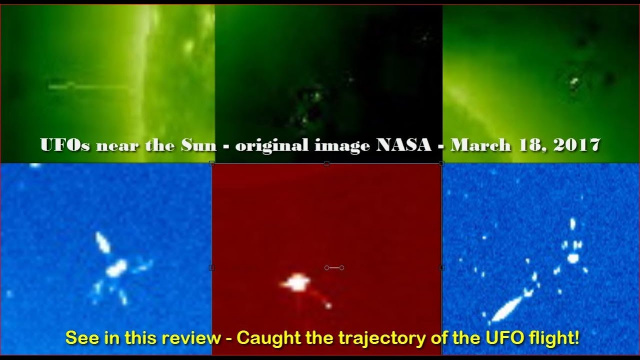 НЛО у Солнца 18 марта 2017