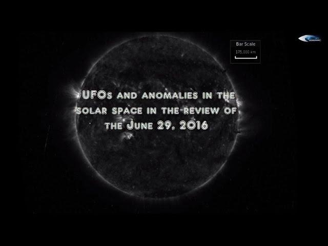 НЛО у Солнца 29 июня 2016