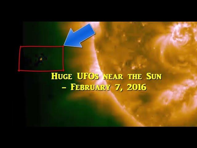 НЛО у Солнца 7 февраля 2016