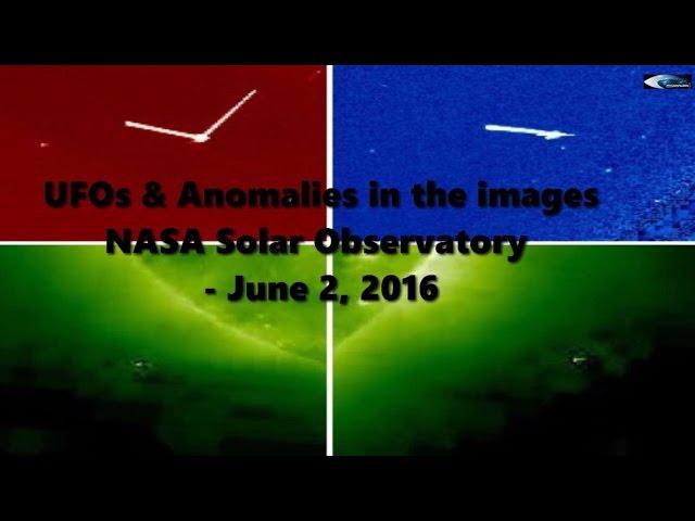 НЛО у Солнца 2 июня 2016
