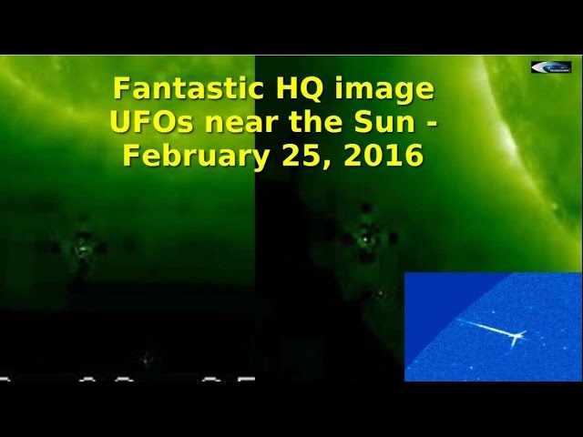 НЛО возле Солнца 25 февраля 2016