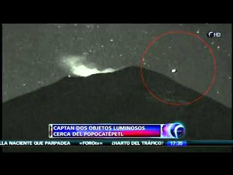 У вулкана Попокатепетль НЛО