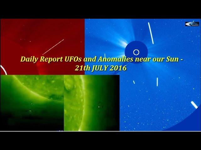 НЛО у Солнца 21 июля 2016