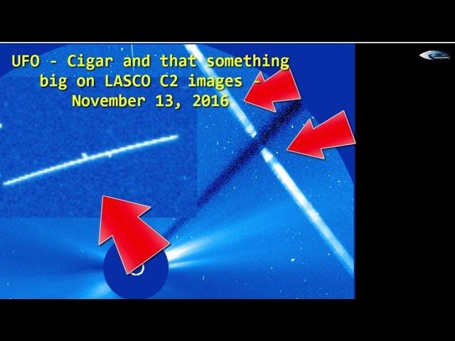 НЛО у Солнца 13 ноября 2016