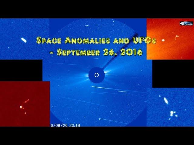 НЛО у Солнца 26 сентября 2016