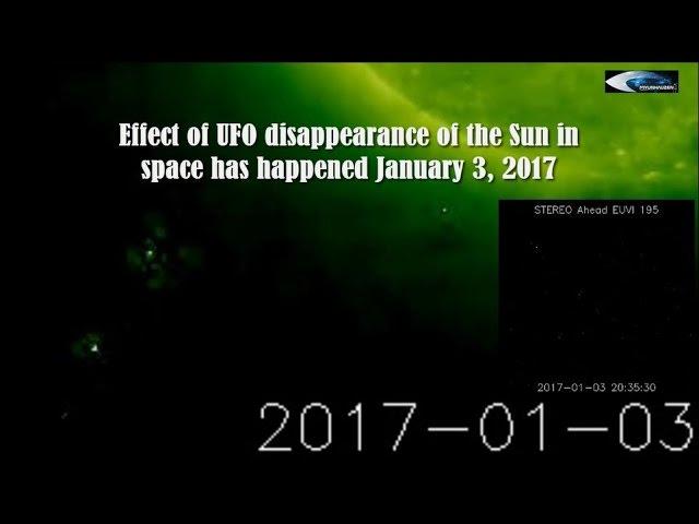 НЛО у Солнца 3 января 2017