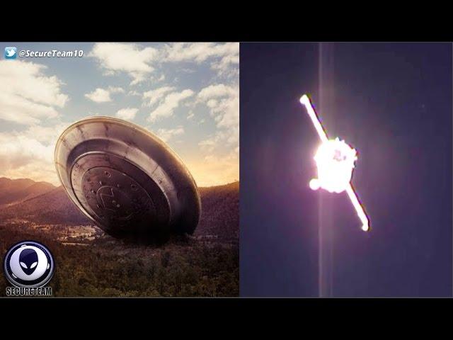 НЛО видео рядом с МКС