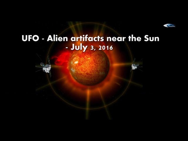 НЛО у Солнца 3 июля 2016