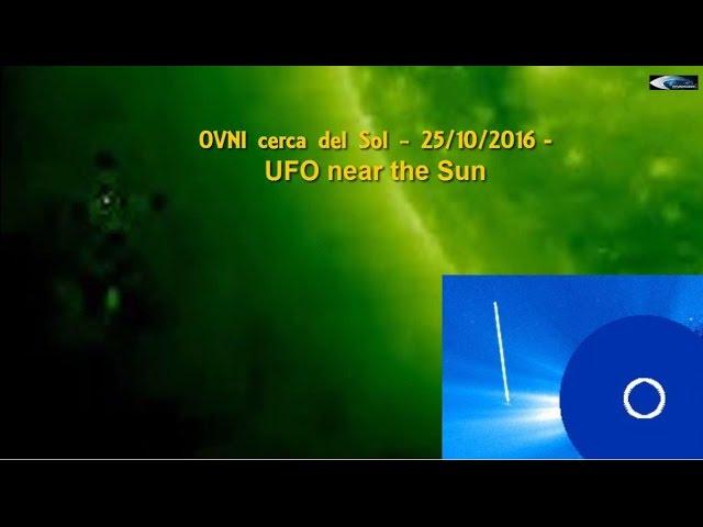 НЛО у Солнца 25 октября 2016