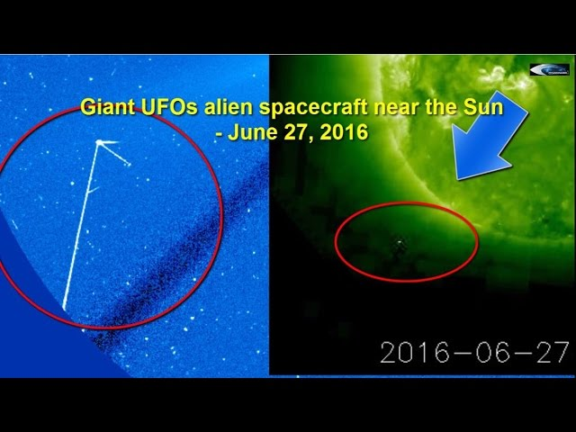НЛО у Солнца 27 июня 2016