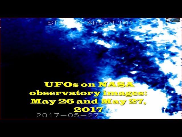 НЛО у Солнца 26 и 27 мая 2017