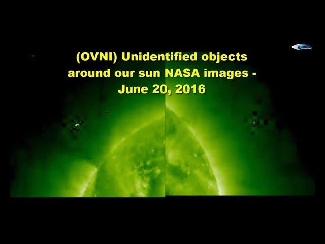 НЛО у Солнца 20 июня 2016