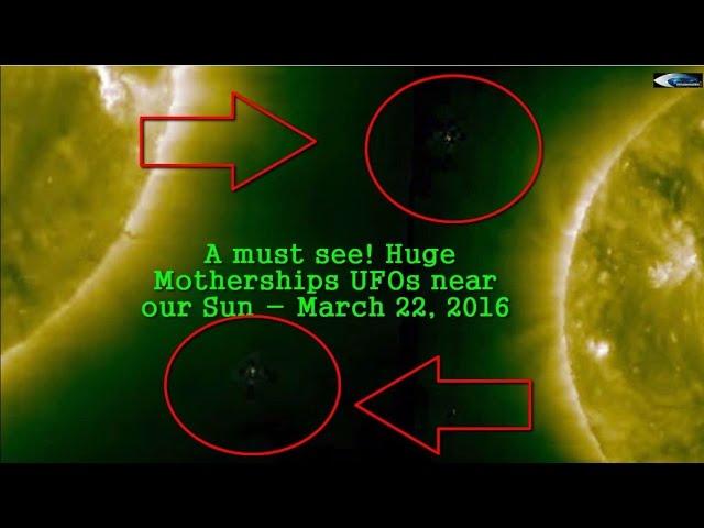 НЛО у Солнца 22 марта 2016