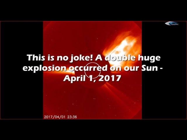 НЛО у Солнца 1 апреля 2017