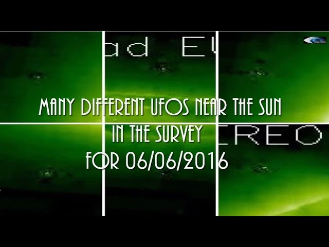 НЛО у Солнца 6 июня 2016
