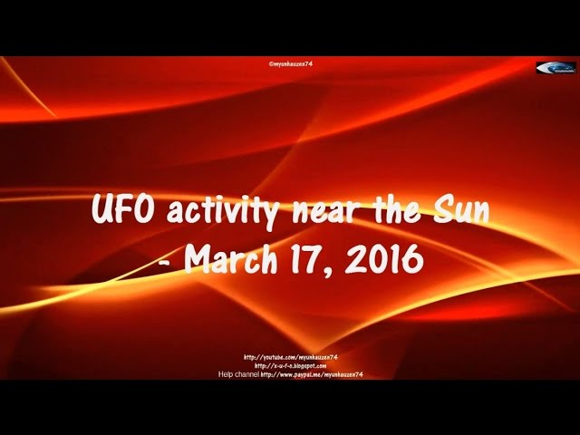 НЛО у Солнца 17 марта 2016
