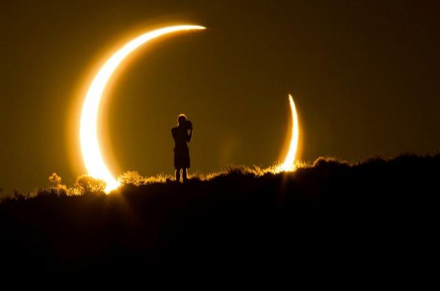 Наблюдение за солнечным затмением