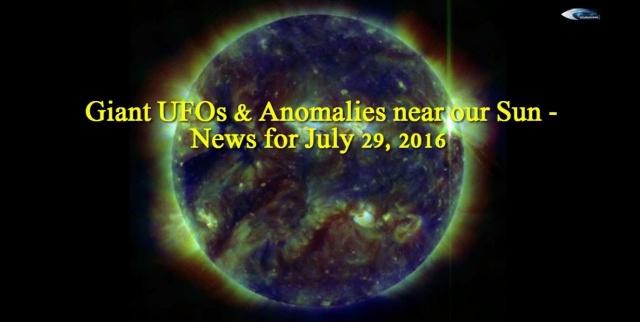 НЛО у Солнца 29 июля 2016