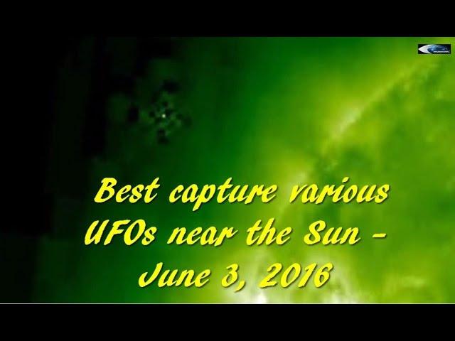 НЛО у Солнца 3 июня 2016