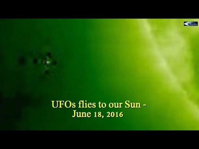 НЛО у Солнца 18 июня 2016