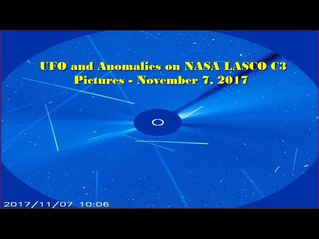 НЛО у Солнца 7 ноября 2017