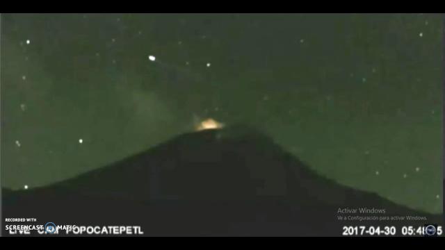 Очередное видео НЛО у вулкана Попокатепетль