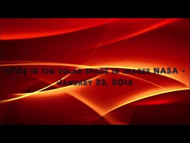 Видео НЛО у Солнца 23 января 2016 года