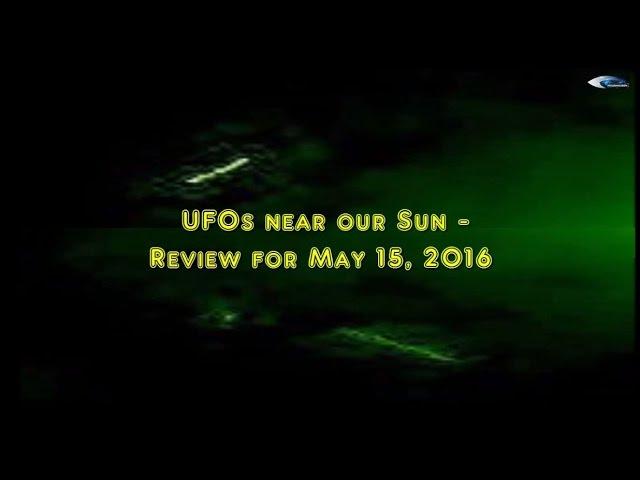 НЛО у Солнца 15 мая 2016