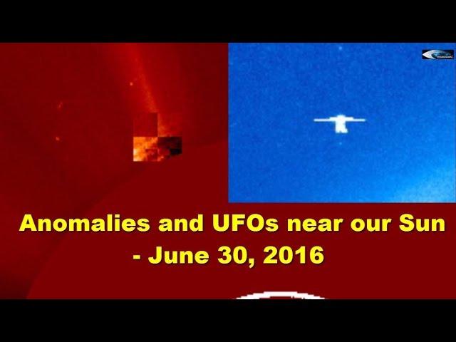 Аномалии и НЛО у Солнца - 30 июня 2016